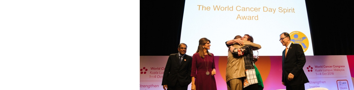 Award winners during the 2018 WCC
