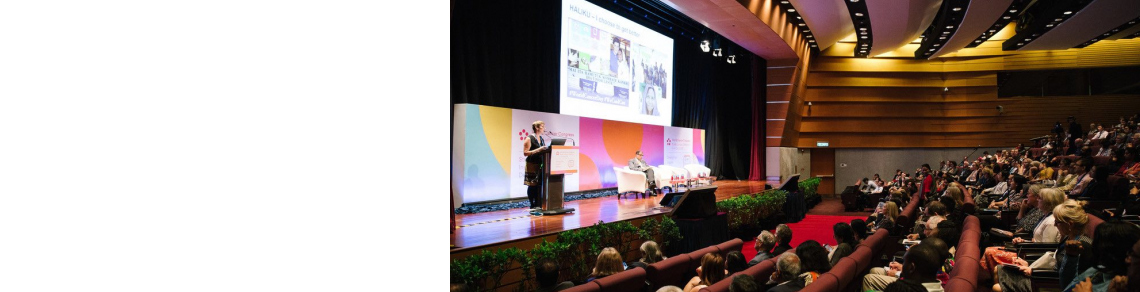 A plenary session at the 2018 World Cancer Congress